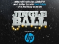 HP/Jingle Ball cobranded contest page on iheart.com